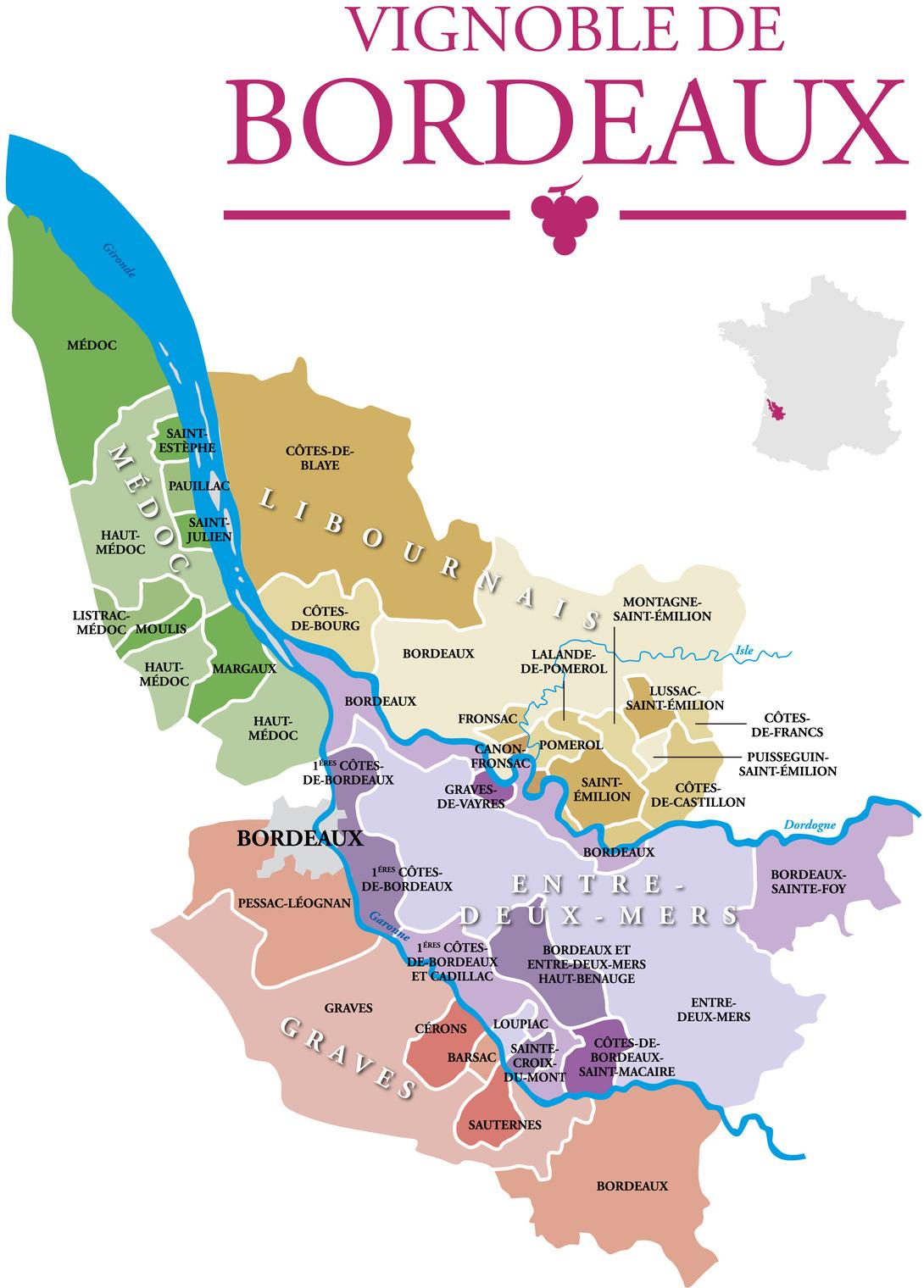 Bordeaux Left Bank 1996