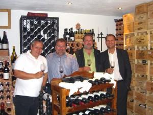 Weinkellerbesichtigung bei Andy Walker Mai 2009