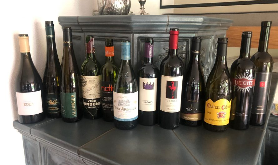 Ergebnis Weinverkostung bei Anita + Markus vom 22.08.2020